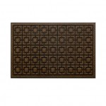 77+ Dustproof Rectangular Floor Mat 75x45cm Pineapple Pattern Brown